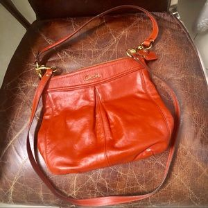 NWOT Coach leather double straps crossbody bag